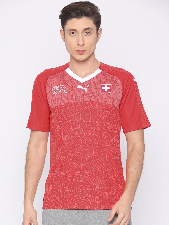 f62ae2ce681 Buy Puma Men Red Printed SUISSE Home Replica T Shirt - Tshirts for ...