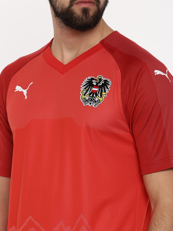 3455c0be6af2b0 Buy Puma Men Red Printed Austria Home Replica T Shirt - Tshirts for ...