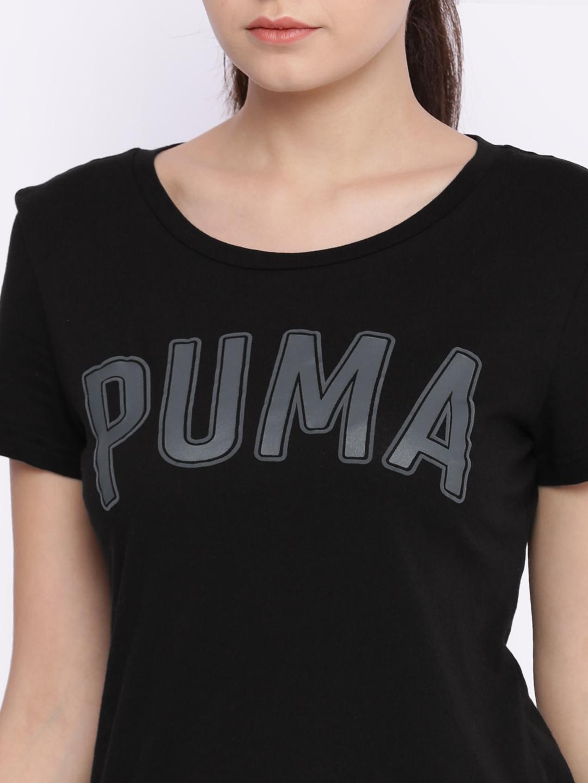 7b2a0aefb6d Buy Puma Women Black Printed ATHLETIC T Shirt - Tshirts for Women ...