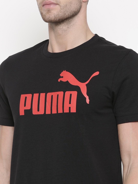 0ea81a05 Buy Puma Black ESS No.1 Printed T Shirt - Tshirts for Men 2445872 ...