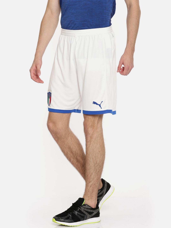 Buy PUMA Men White FIGC Italia Shorts Replica Shorts - Shorts for ... 9b381afa0d04c
