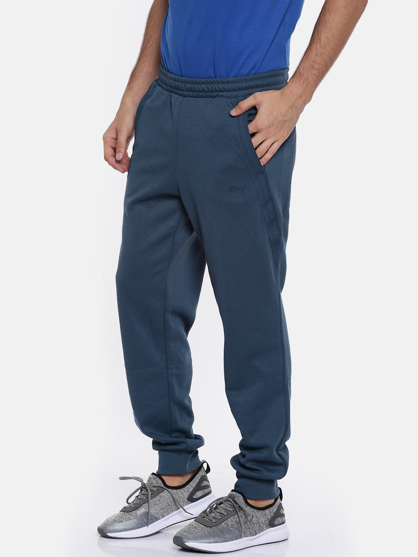 Buy Puma Men Blue Textured Ferrari Cc Joggers - Track Pants for Men ... a40a545e41b69