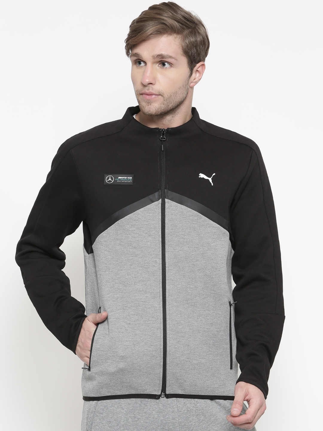 Buy Puma Black Grey Mercedes Amg Petronas T7 Sweat Jacket