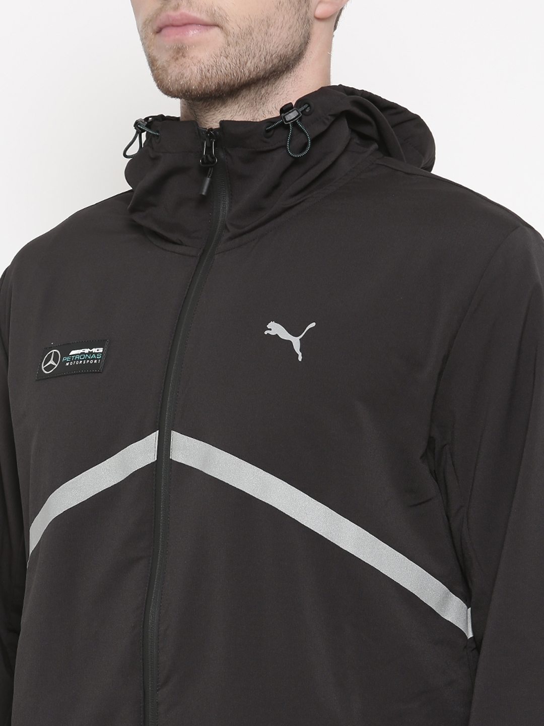 Buy Puma Black Mercedes Amg Petronas Night Cat Lw Jacket Jackets