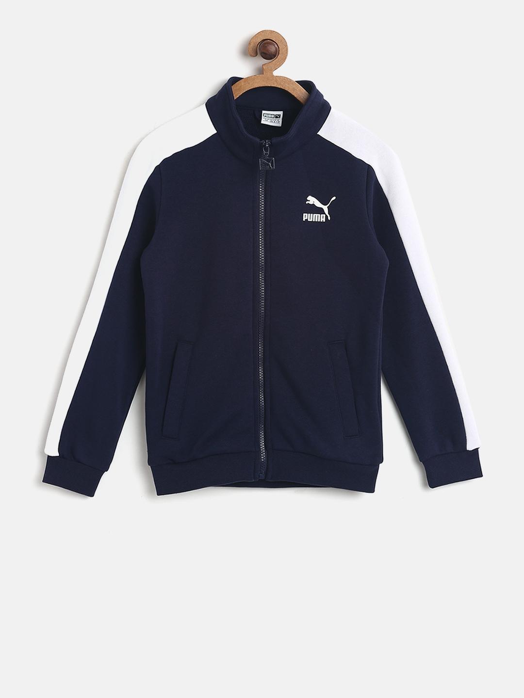 ff759d03ab54 Buy Puma Boys Navy Classic T7 Track Jacket - Jackets for Boys ...