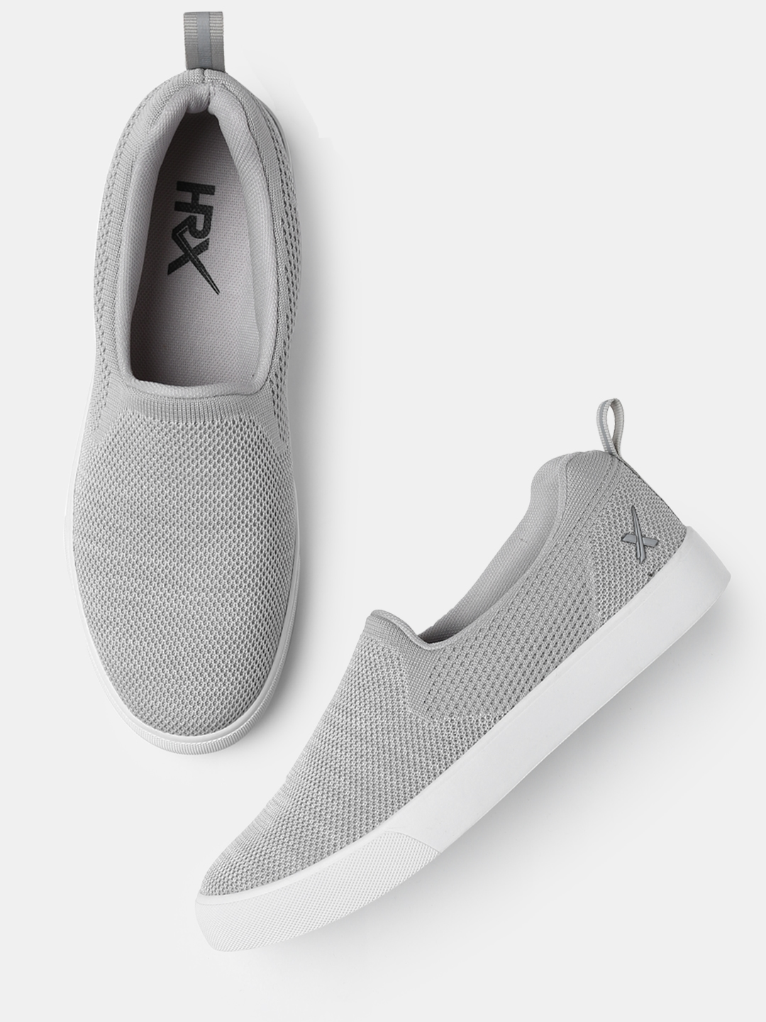 0a94dc90927 Buy HRX By Hrithik Roshan Women Fly Grey Slip On Sneakers - Casual ...
