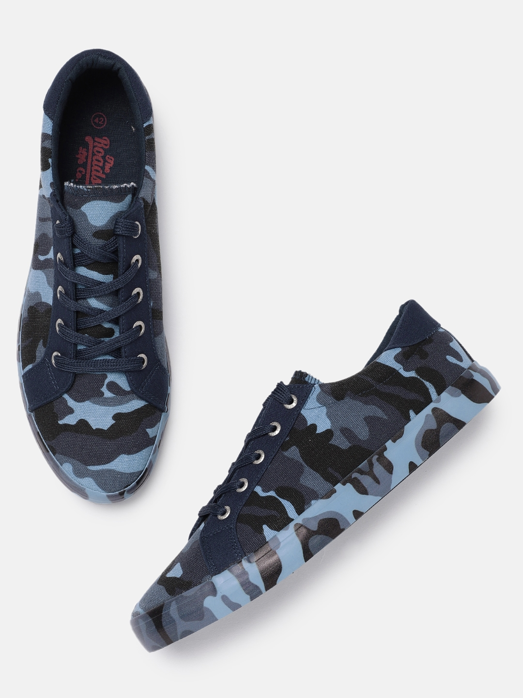 01d80727b0a5 Buy Roadster Men Navy Blue Camouflage Sneakers - Casual Shoes for ...
