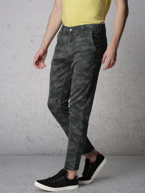 Buy Ecko Unltd Men Grey Slim Fit Mid Rise Clean Look