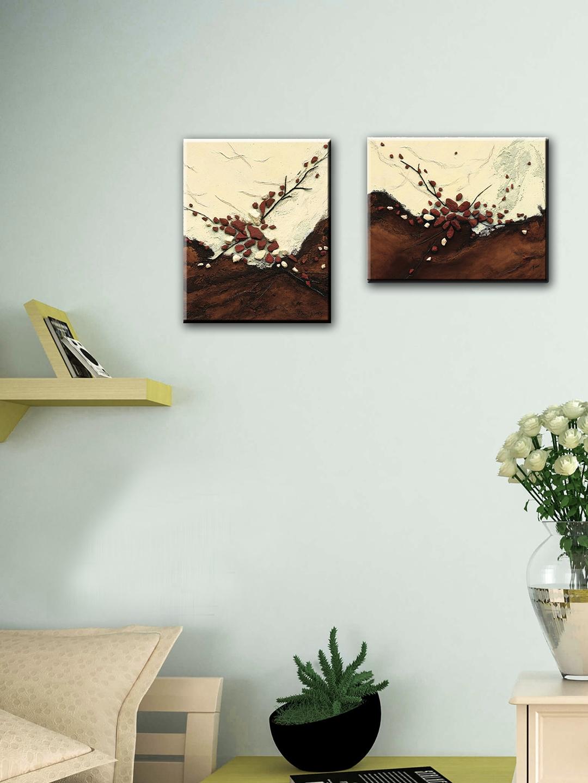 Buy Elegant Arts & Frames Set Of 2 Floral Stretched Canvas Art ...