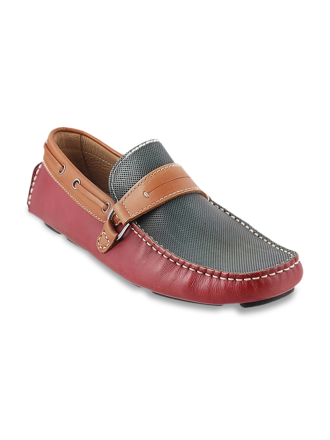 be9ca05abb3 Buy J.FONTINI Men Maroon Leather Loafers - Casual Shoes for Men ...