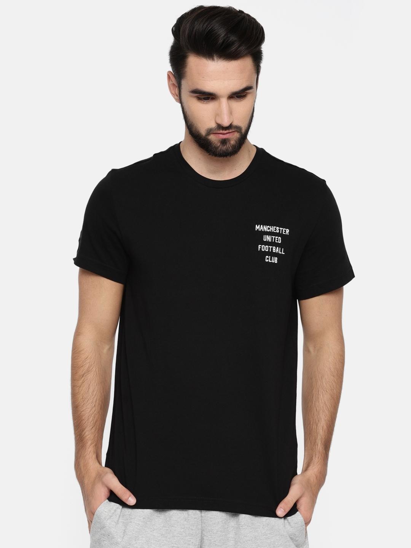 bef373fb54 Buy ADIDAS Men Black Manchester United FC SGR Solid Football T Shirt ...