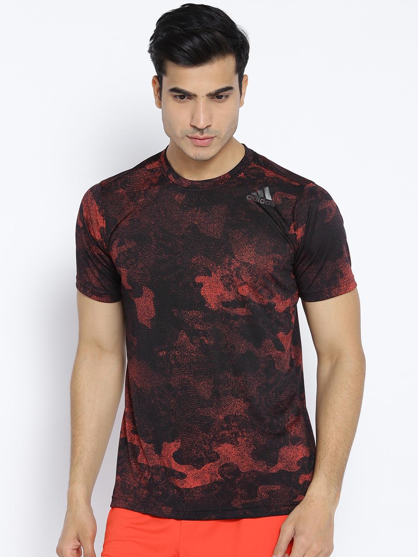 0d3bb19f5ea Buy Adidas Men Black & Red Freelift CC G1 Printed Training T Shirt ...