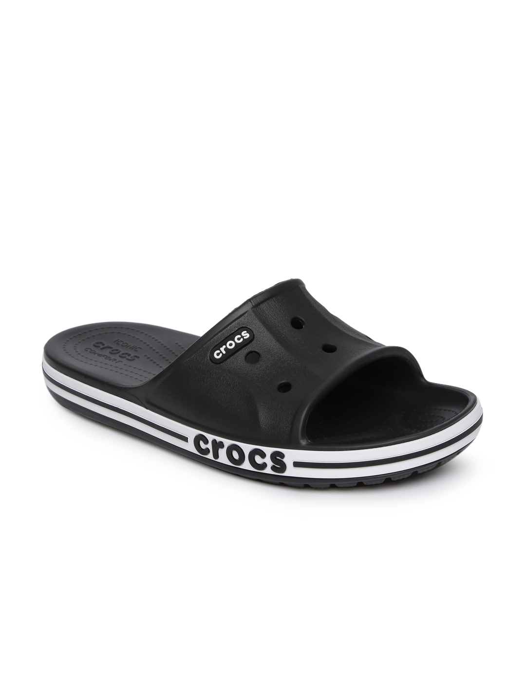 e08a1424fcd5 Buy Crocs Unisex Black Bayaband Slide Slip On Flip Flops - Flip ...