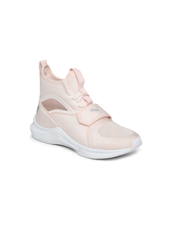 9116d3332 Buy Puma Girls Peach Coloured Woven Design Textile High Top Sneakers ...