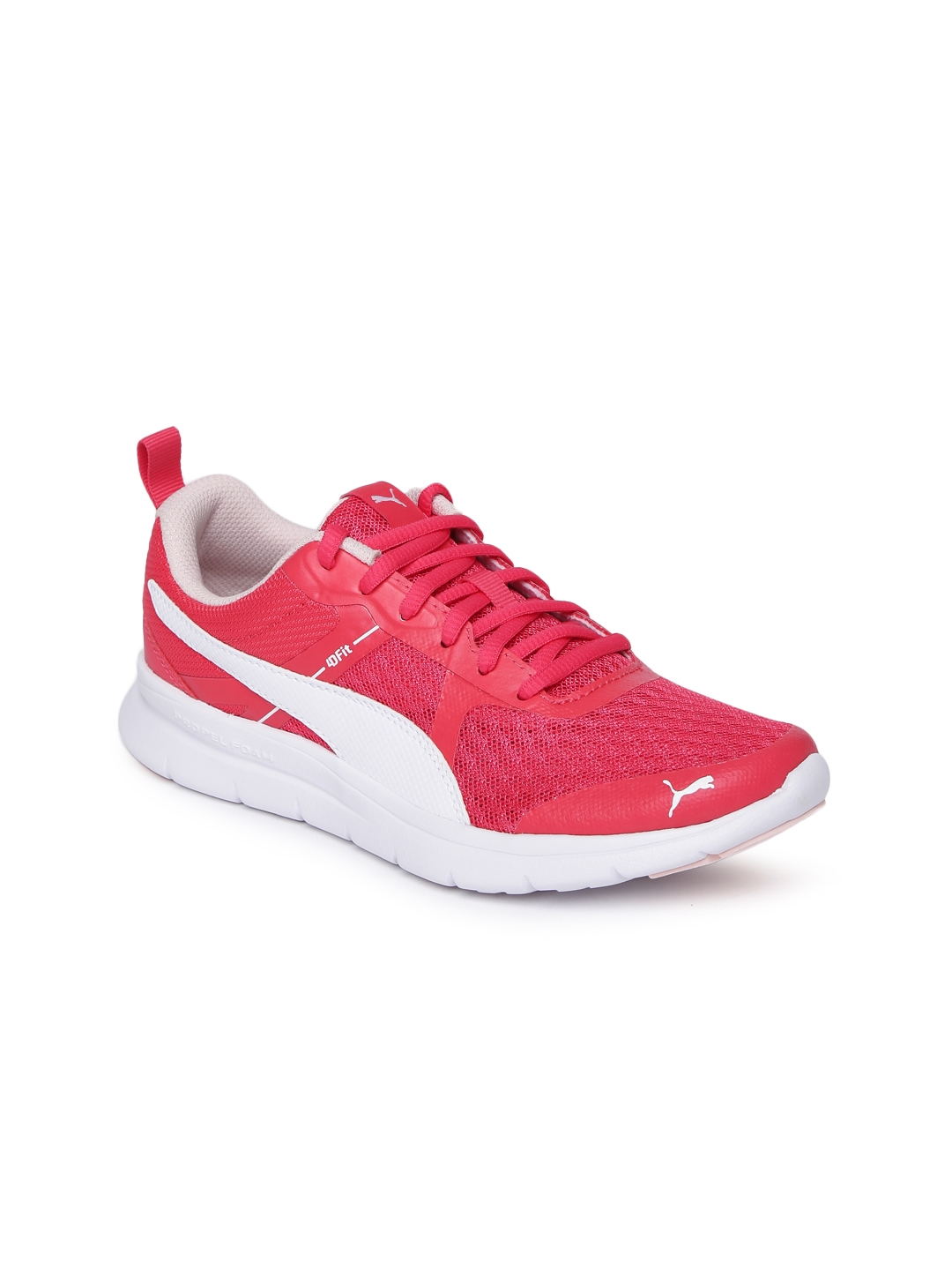 Buy Puma Girls Pink Flex Essential Junior Sneakers - Casual Shoes ... e9582270f