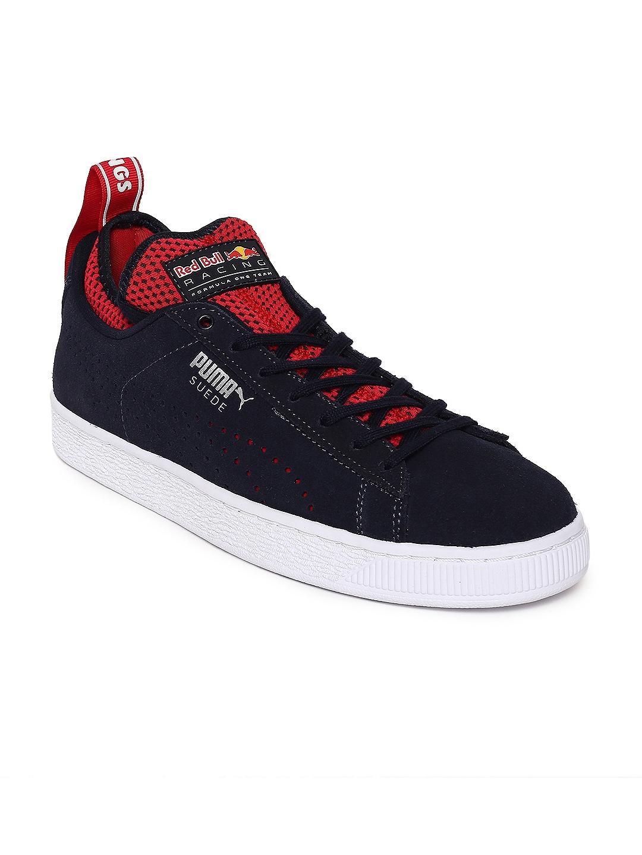 34ac330cd329 Buy Puma Men Black   Red Bull Racing Suede Sneakers - Casual Shoes ...