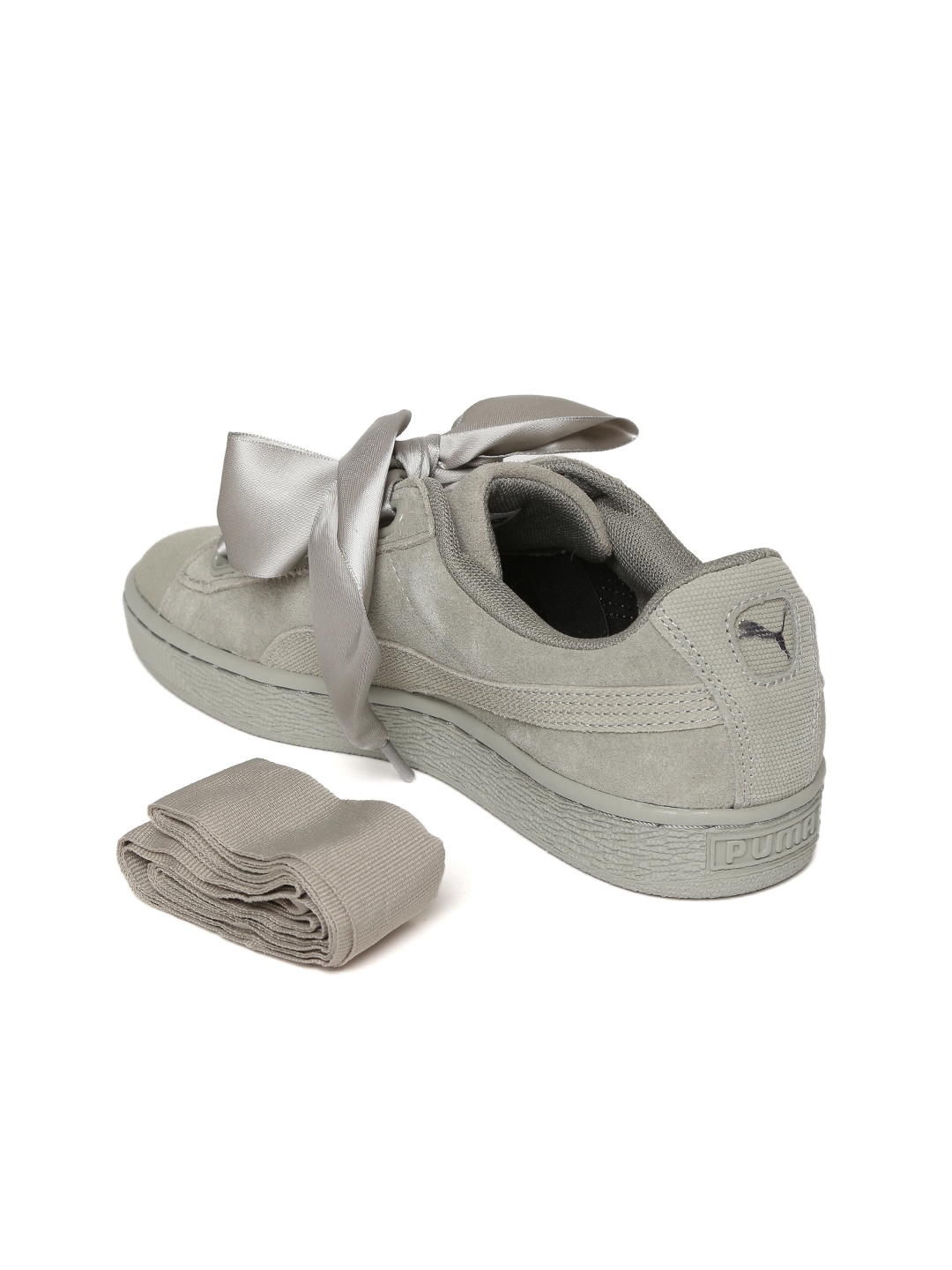 dca0f75fe1ed Buy Puma Women Grey Suede Heart Pebble Sneakers - Casual Shoes for ...