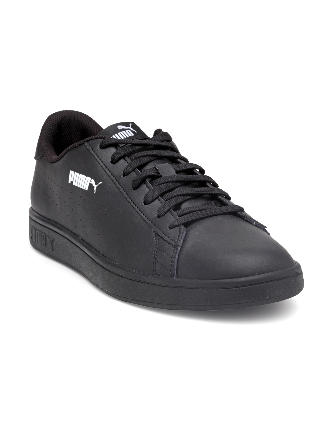 ef9aeec6e92b Buy Puma Men Black Smash V2 L Perf Leather Sneakers - Casual Shoes ...