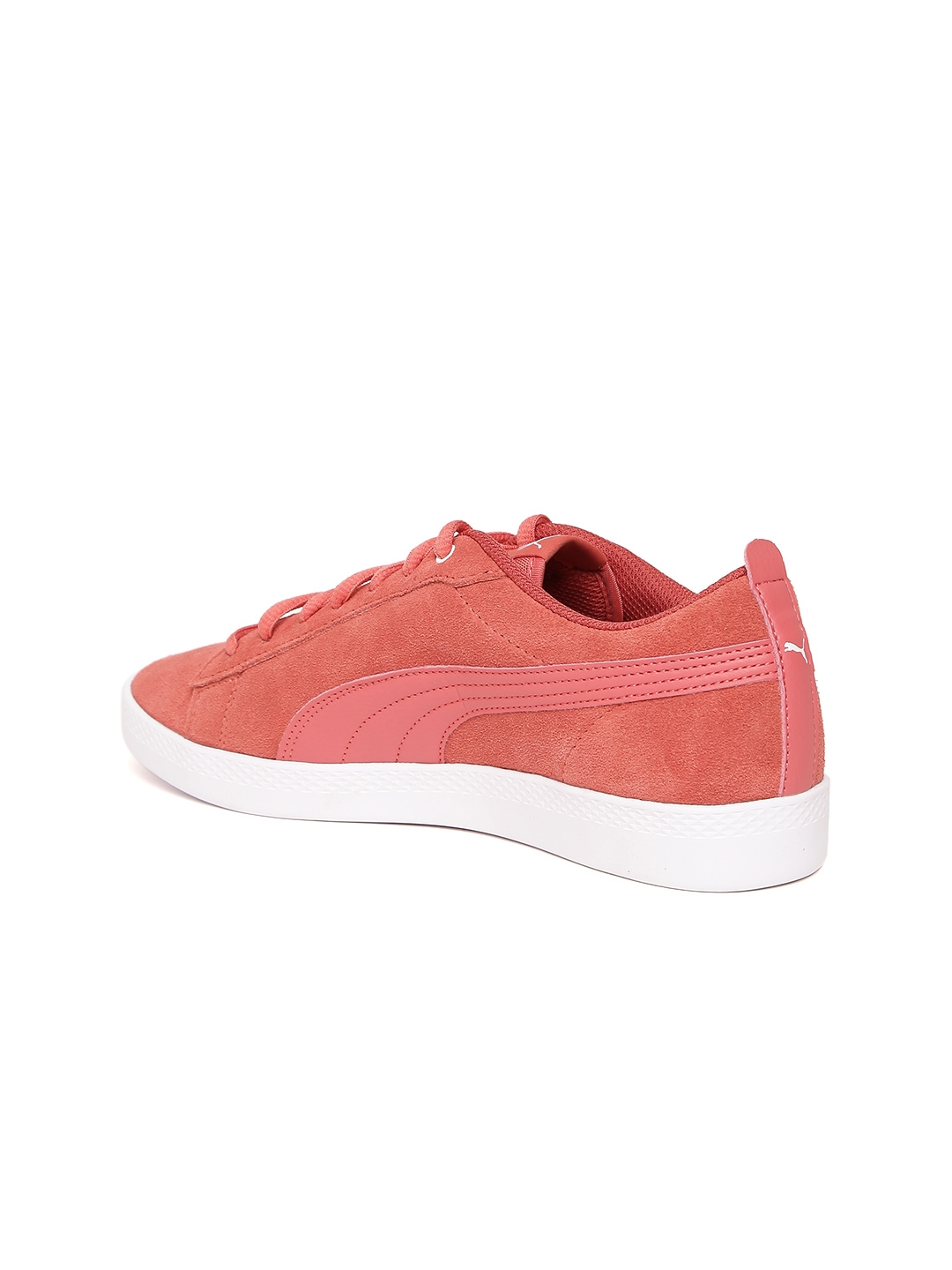 80ff0e1f206 Buy Puma Women Coral Pink Smash V2 Suede Leather Sneakers - Casual ...