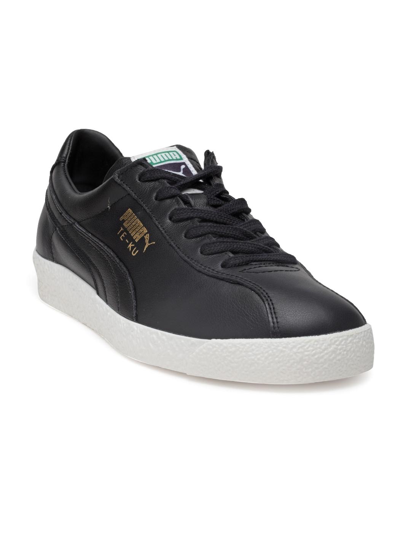 fdcbc7800e55da Buy Puma Men Black Te Ku Core Leather Sneakers - Casual Shoes for ...