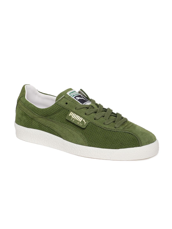 huge discount 37d56 4f09a Puma Men Olive Te-Ku Summer Suede Sneakers