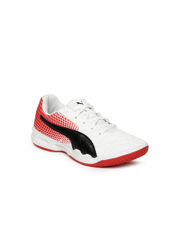 ae49de22a Buy Puma Boys White   Red Printed Veloz Indoor NG Junior Badminton ...