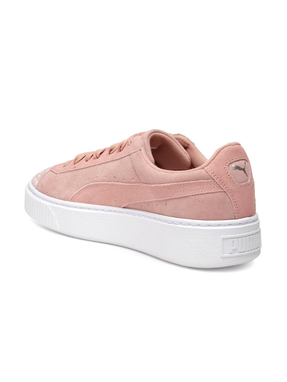 Buy Puma Women Dusty Pink Suede Platform Pebble Sneakers - Casual ... 40d091e46