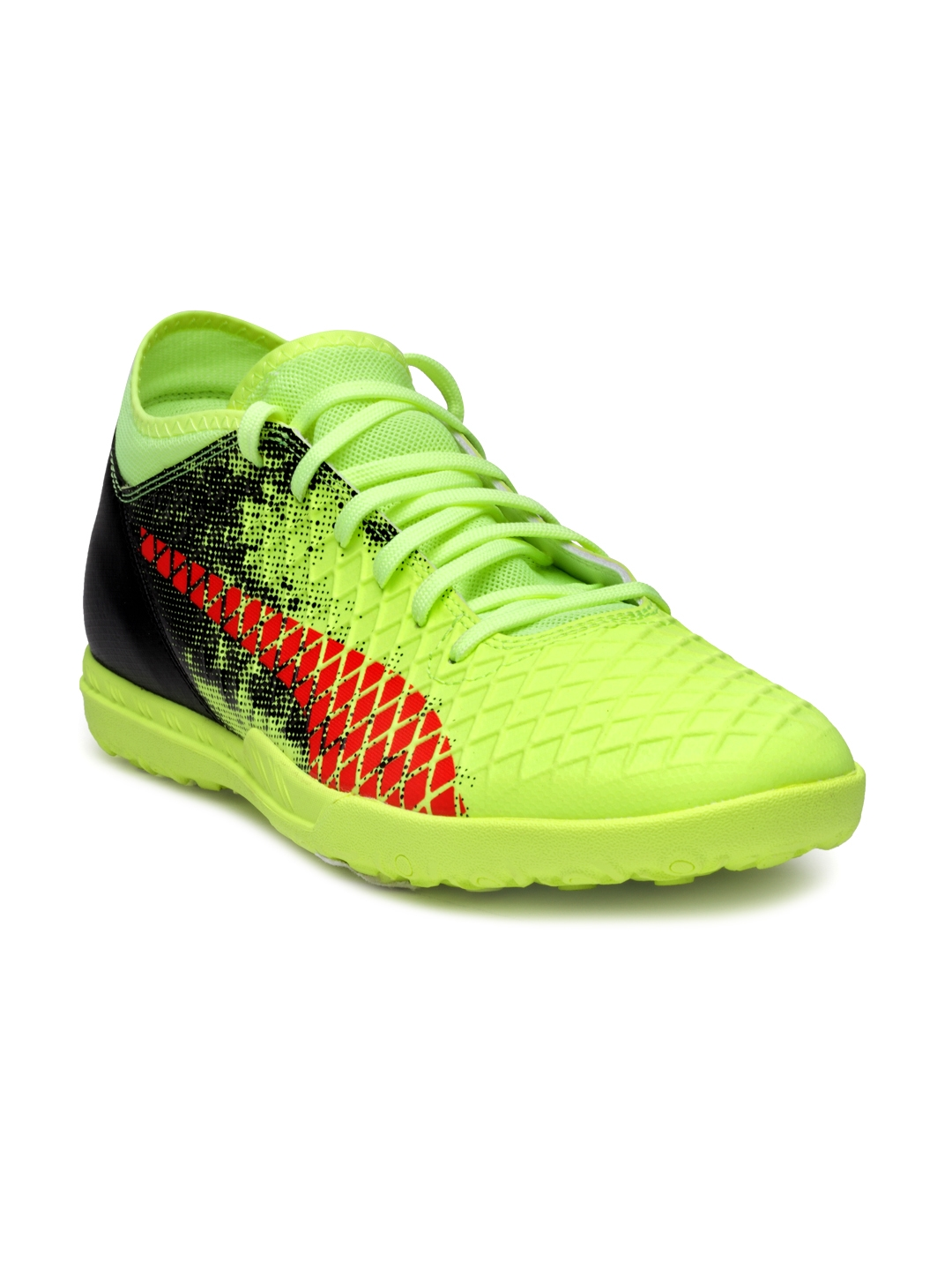 best service a6091 0ba09 Puma Men Fluorescent Green   Black Future 18.4 TT Football Shoes