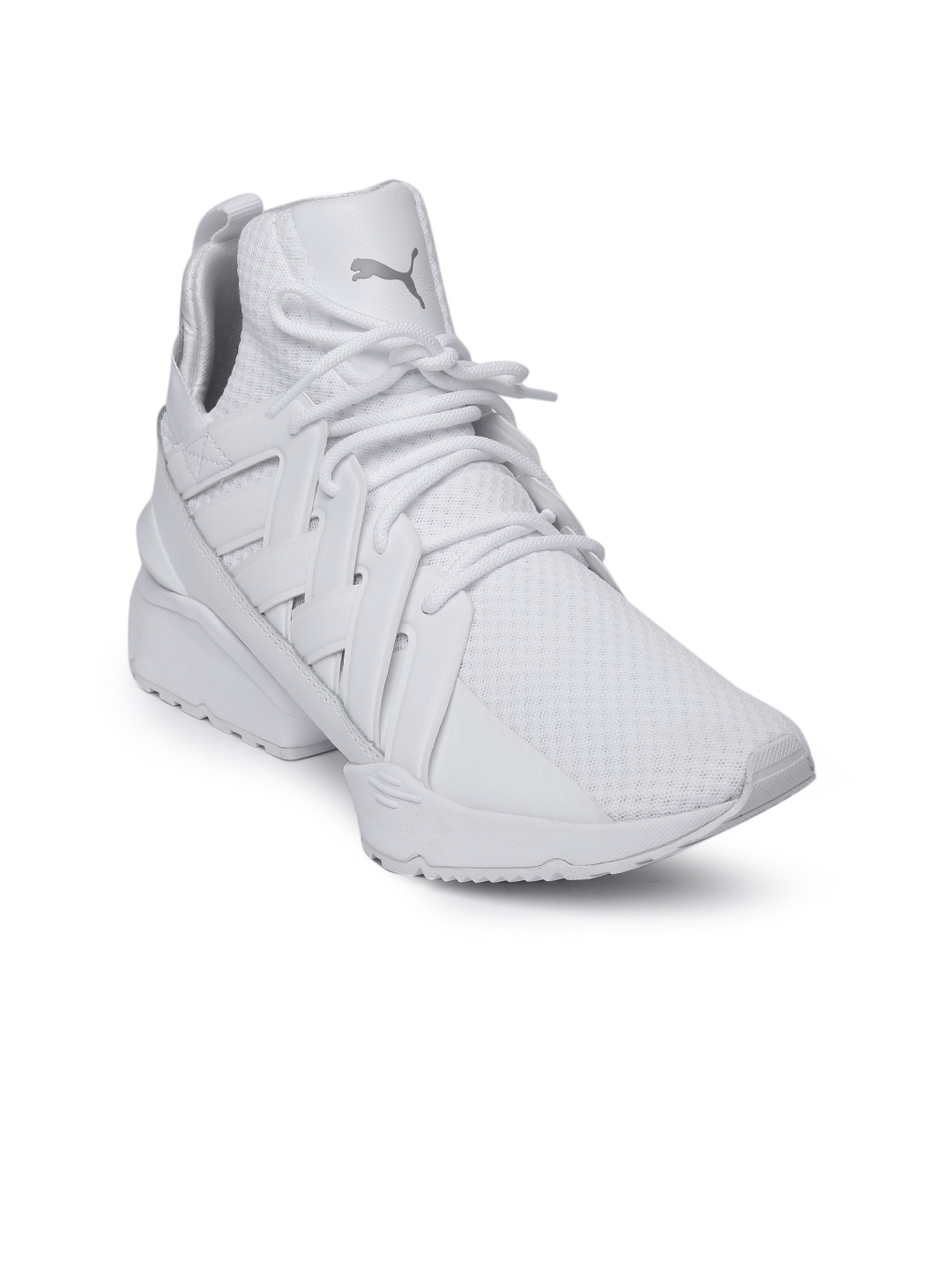 Buy Puma Women White Muse Echo EP MId Top Sneakers - Casual Shoes ... 764d1148c