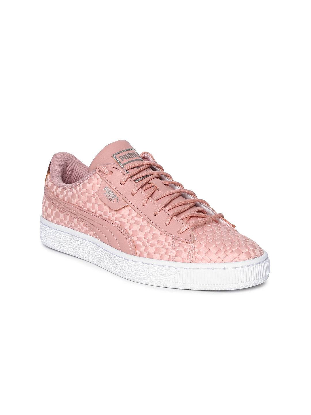 4cd83f5af7d Buy Puma Women Peach Coloured Basket Satin EP Sneakers - Casual ...
