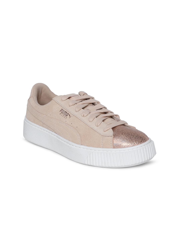 Buy Puma Women Beige Suede Platform LunaLux Sneakers - Casual Shoes ... c2b42305e