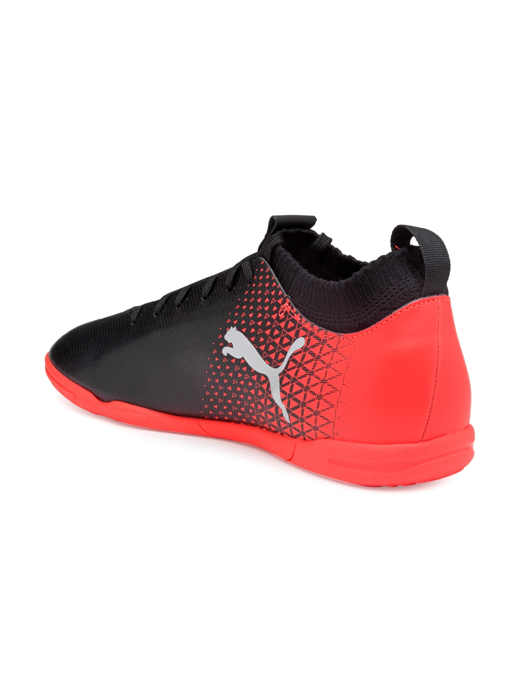 11f424e916bc Buy Puma Men Black & Red EvoKNIT Indoor Training Football Shoes ...