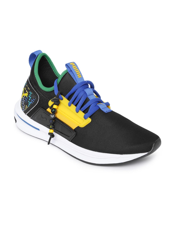 eddffd1eb1a0 Puma Unisex Black Colourblocked IGNITE Limitless SR Cnvl FM Sneakers