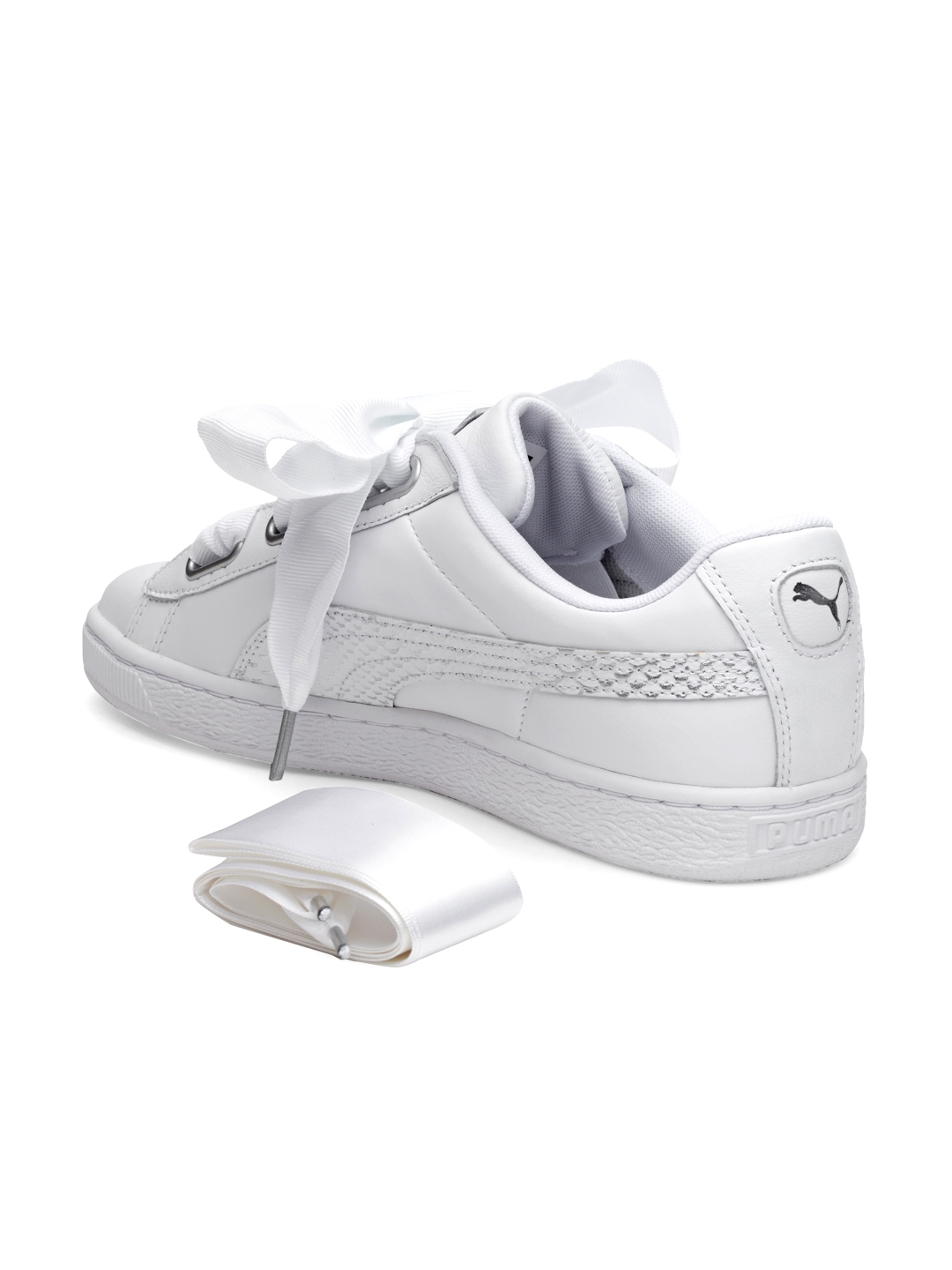 d790d508bb Buy Puma Women White Basket Heart Oceanaire Sneakers - Casual Shoes ...