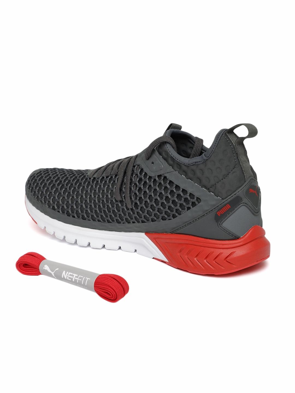 Buy Puma Mens Grey IGNITE Dual NETFIT Running Shoes - Sports Shoes ... 6a4b9f346
