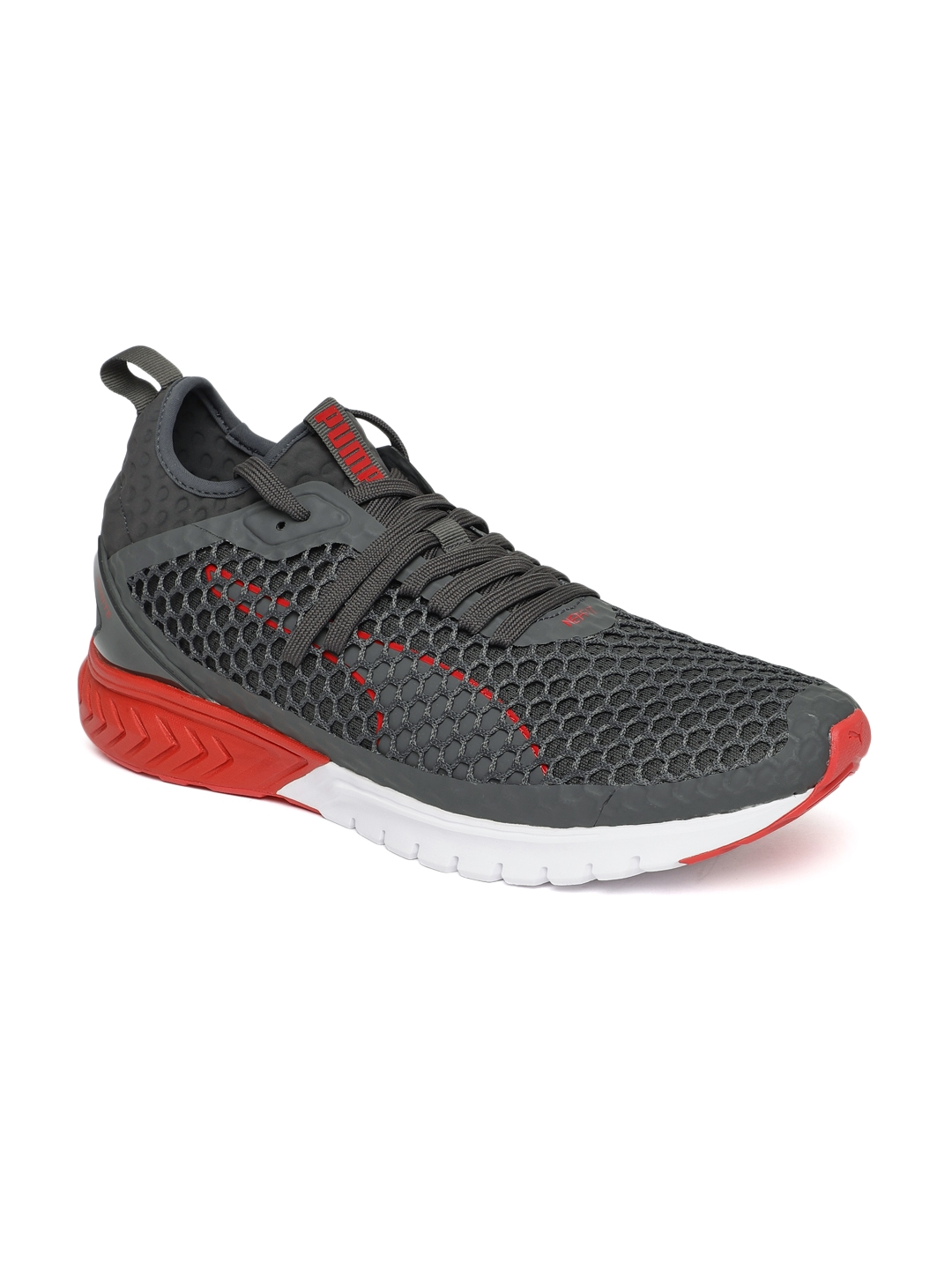 a3df9032364253 Buy Puma Mens Grey IGNITE Dual NETFIT Running Shoes - Sports Shoes ...