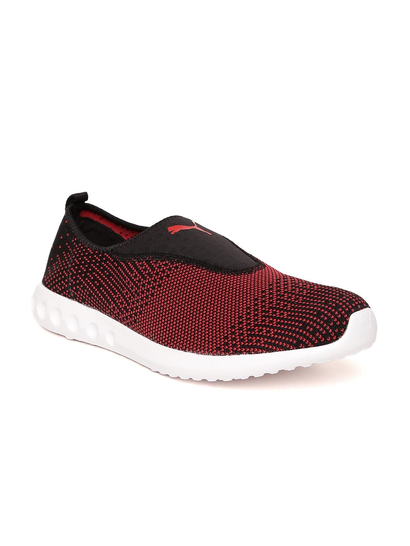 2074a90fb4e Buy Puma Men Black   Red Carson 2 Slip On IDP Running Shoes - Sports ...