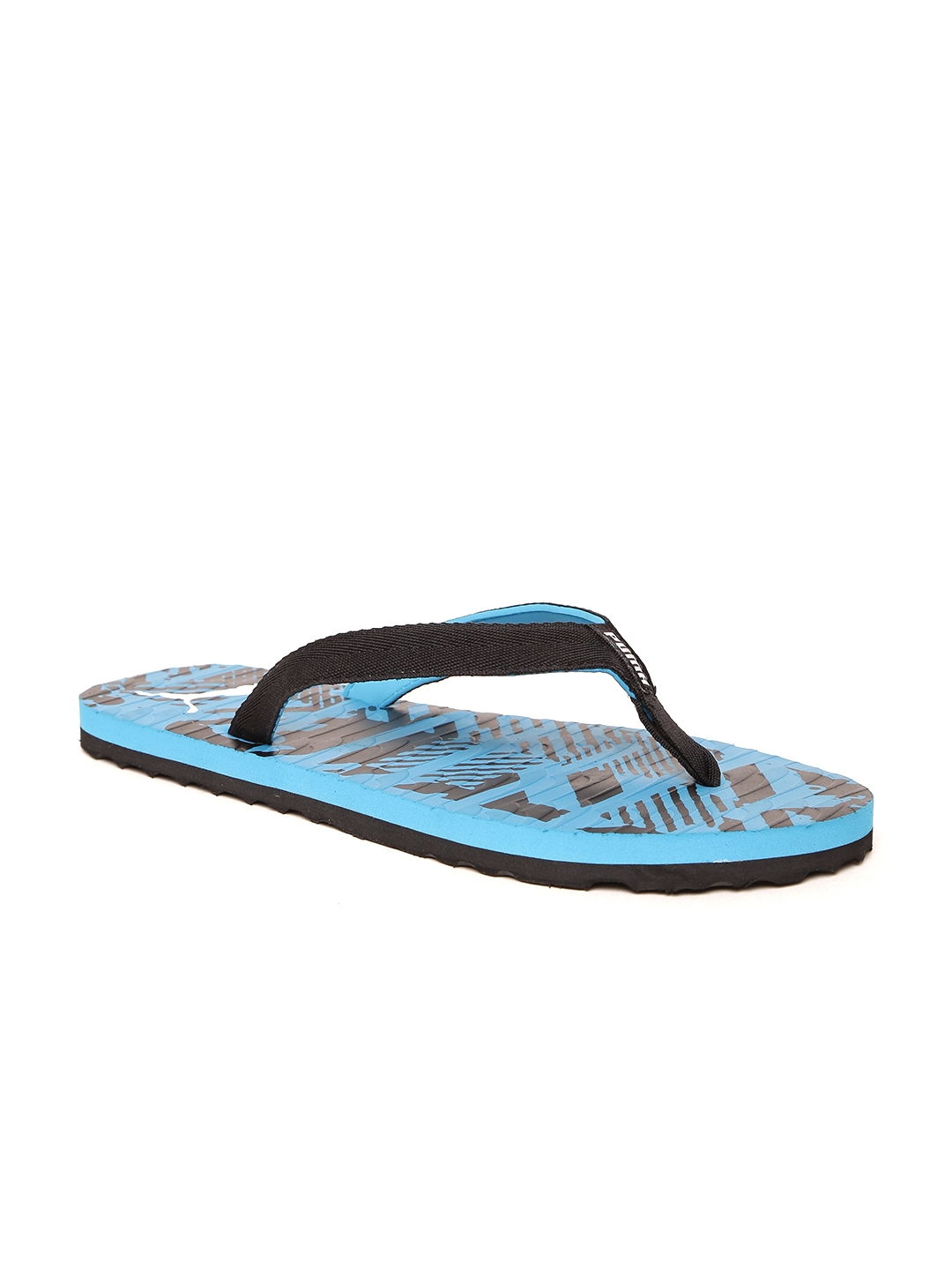 c0773156dcea Buy Puma Unisex Blue   Black Mykonos Graphic IDP Printed Thong Flip ...