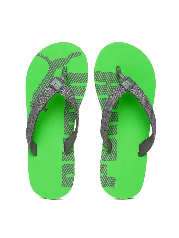 54f876163778 Buy Puma Kids Grey   Green Epic Flip V3 GU JR IDP Printed Thong Flip ...