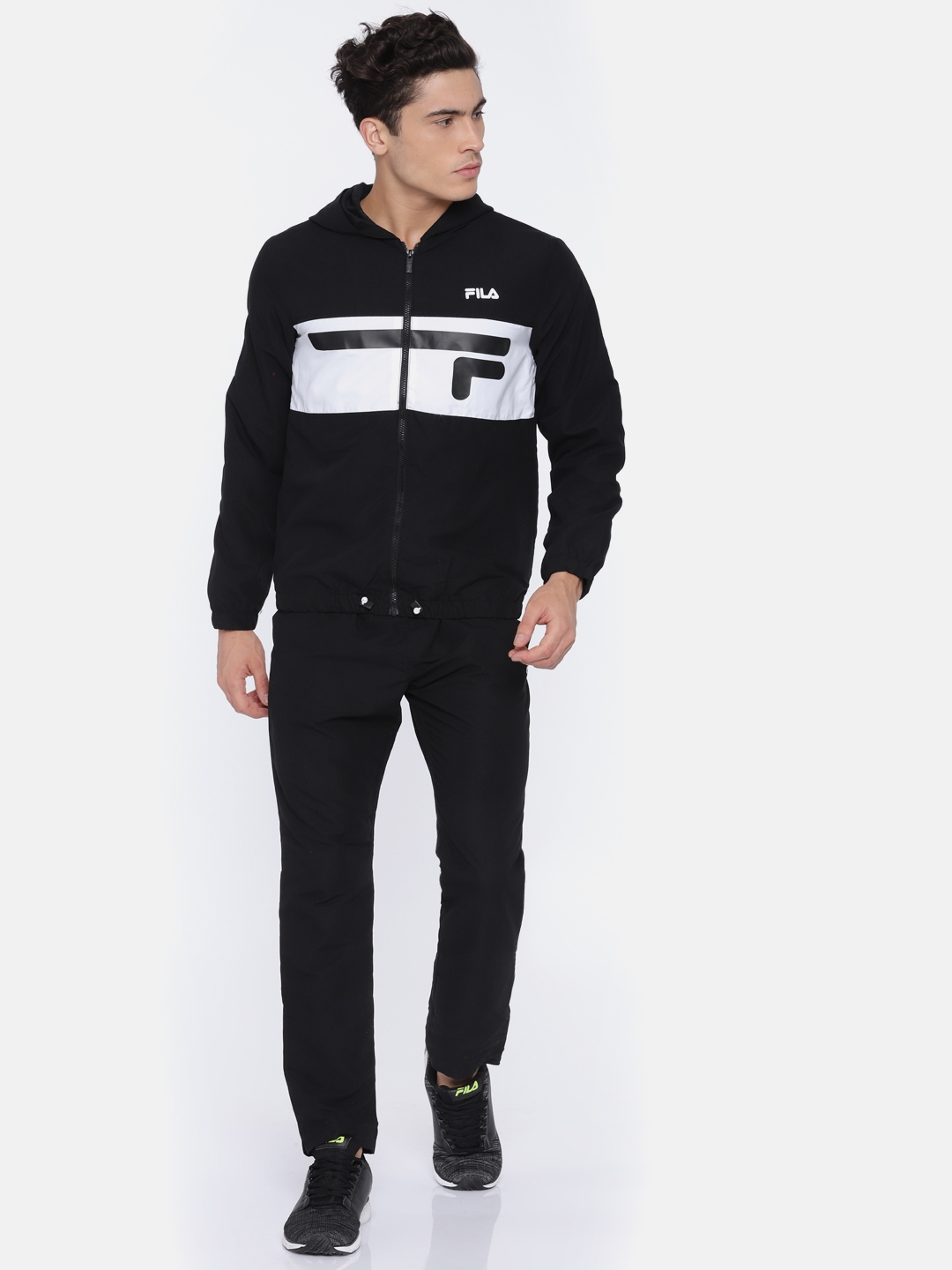 4736800fb6e5 Buy FILA Men Black TURIN Tracksuit - Tracksuits for Men 2458120 | Myntra