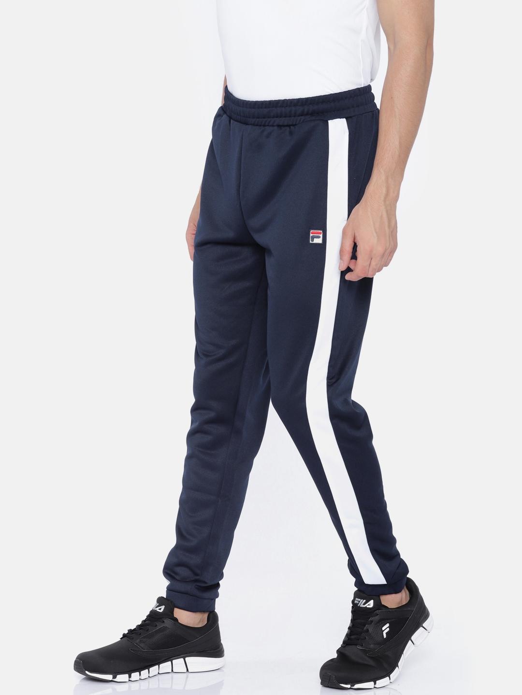 8ffa27509a Buy FILA Men Navy RENZO Joggers - Track Pants for Men 2458380 | Myntra