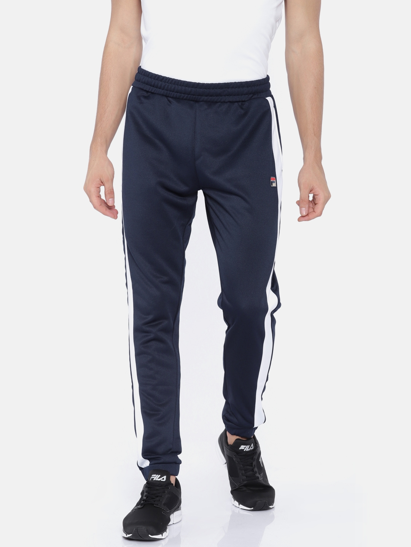 1c022881 Buy FILA Men Navy RENZO Joggers - Track Pants for Men 2458380   Myntra
