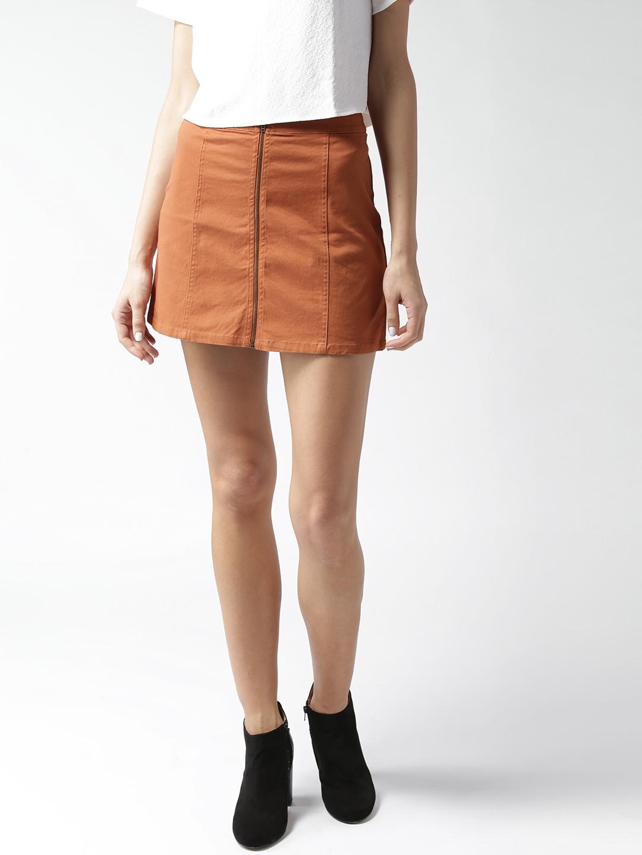 a8f34c1b9 Buy FOREVER 21 Rust Orange Mini Pencil Skirt - Skirts for Women ...