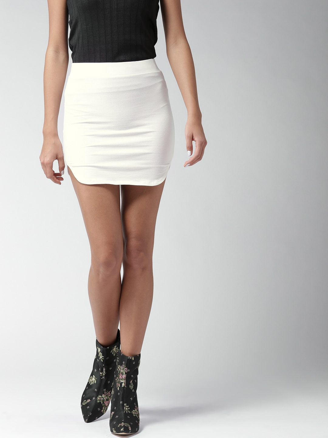 d16a133af0 Buy FOREVER 21 White Mini Pencil Skirt - Skirts for Women 2459660 ...