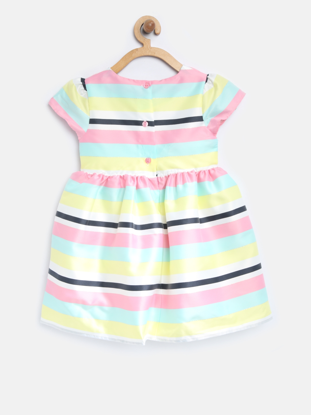 32e4cd1ace Buy Mothercare Girls Multicoloured Striped Fit And Flare Dress ...