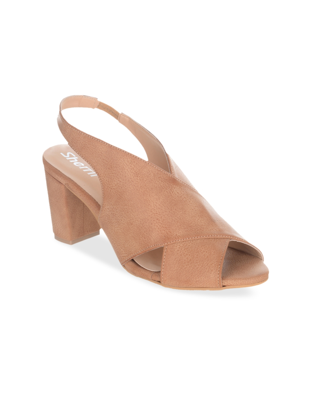 84304d078 Buy Sherrif Shoes Women Tan Solid Sandals - Heels for Women 2463812 ...