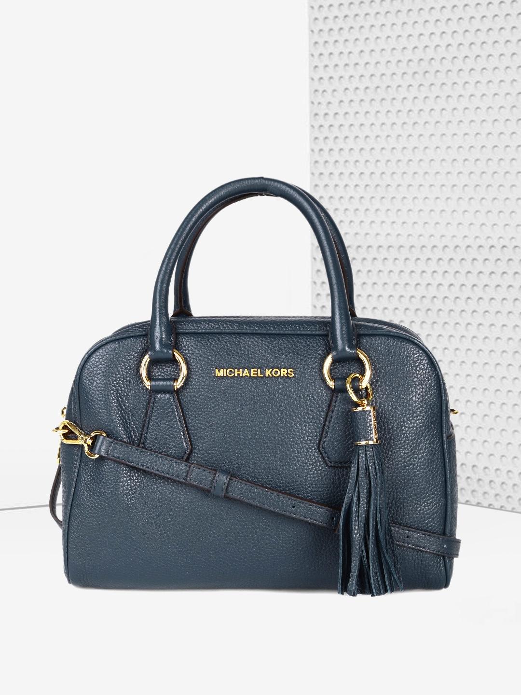 569fda3a5390 Buy Michael Kors Navy Blue Solid Handheld Bag - Handbags for Women ...