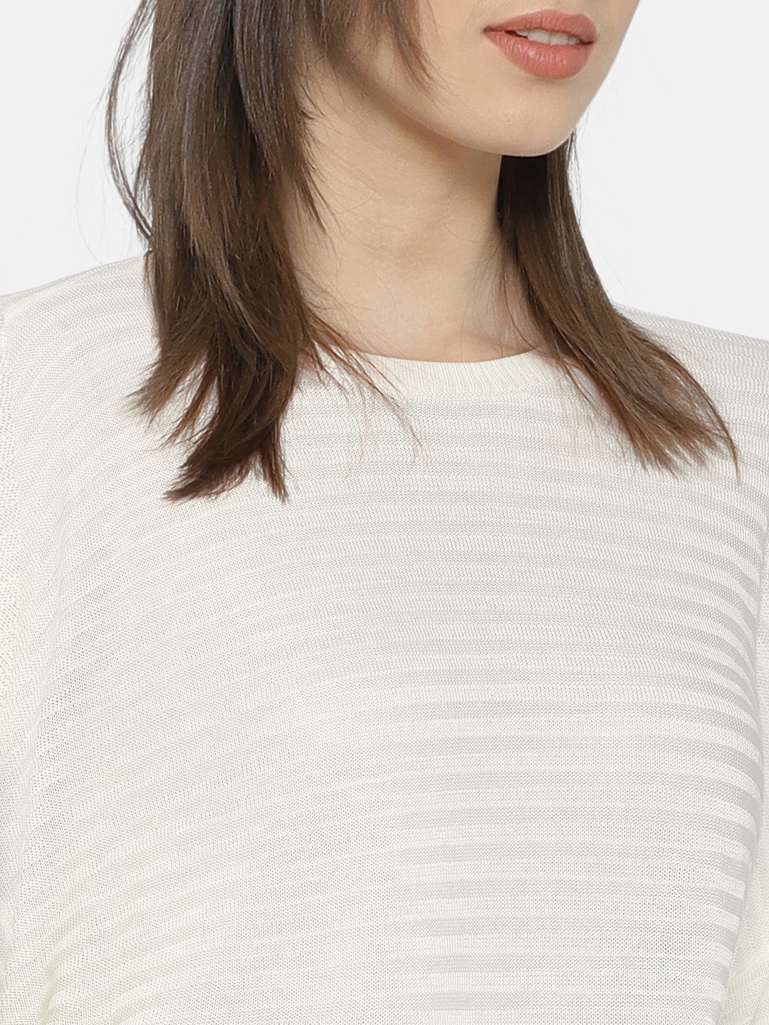 243e32a386014c Buy ONLY Women Off White Striped Boxy Crop Top - Tops for Women ...