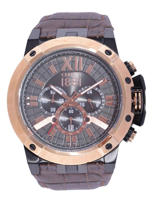0dc3b79da57 Buy Cerruti 1881 Men Gunmetal Toned Chronograph Watch CRA145SBR61DB ...