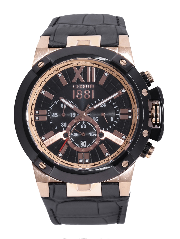 9bca252c5e3 Buy Cerruti 1881 Men Black Chronograph Watch CRA145SRB02BK - Watches ...